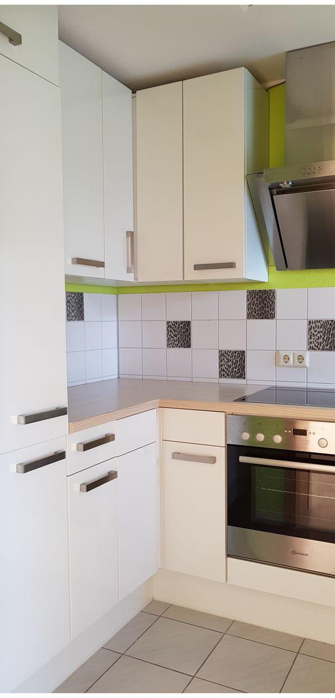 Küche weiß Hochglanz sehr gut erhalten in Gernsbach - Küchenzeilen ...