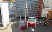 Ladeneinrichtungsteile - Warensicherungssystem - Glas Rollregal -