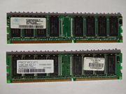 2 DDR Arbeitsspeicher RAM Module