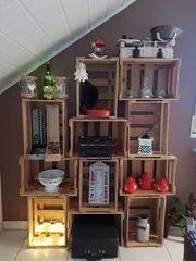 Alte Weinkisten Holzkisten Bücherregal Regal