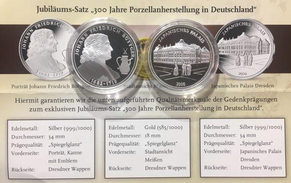 2 Silbermedaillen 300 Jahre Porzellanherstellung In Deutschland In