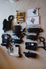 10 ISDN Tastentelefone alte Telefone