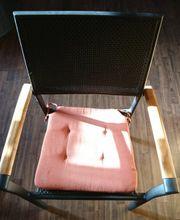 4 Garten Rattan Stühle mit