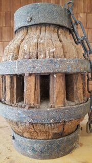 Wagennabe Holz mit Kette