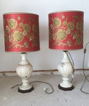 2 große Stehleuchten Lampen Keramik
