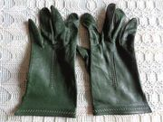 Vintage Handschuhe Leder Lederhandschuhe grün