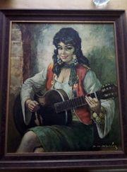 Altes Bild Zigeunerin