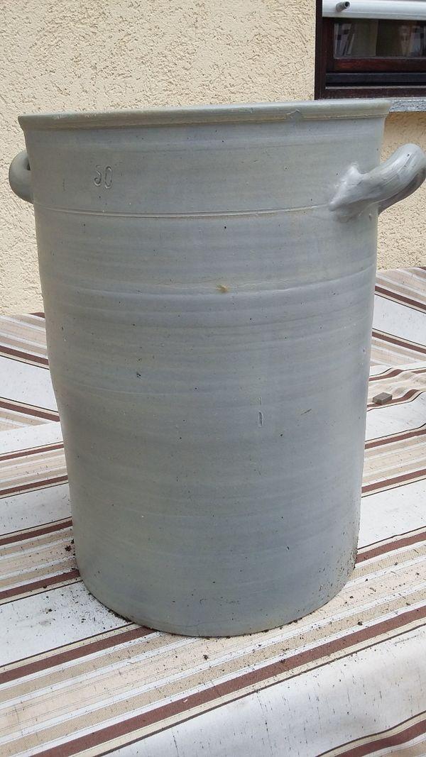 Steingut Gefäss 50 Liter
