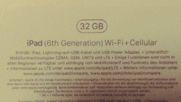 iPad 2018 Silber Wi-Fi Cellular