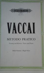 Vaccai Gesang hohe