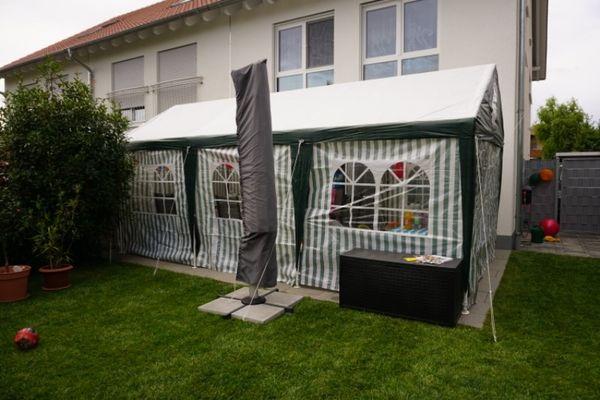 Pavillon Regenschutz Sammlung : Pavillon 6x3 m grün weiss zelt grossraumzelt in ubstadt weiher
