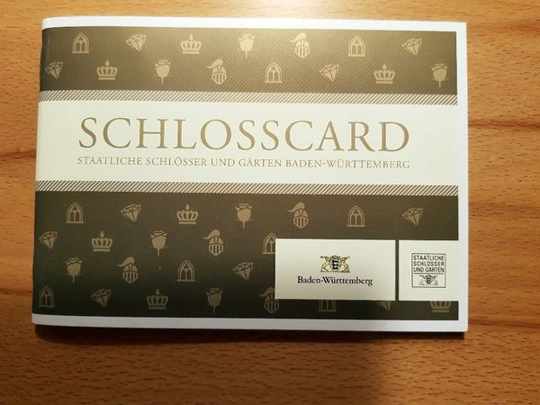 Tolles Geschenk Schlosscard Baden Württemberg Mit 24