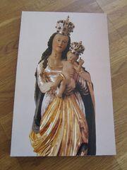 Marienbild auf massiver Holzplatte Maria