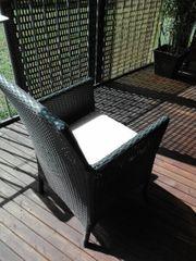 2Hochwertige Polyrattangeflecht Sessel
