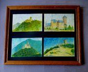 4 Gemälde sig.