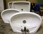 Diverse Waschbecken weiß,