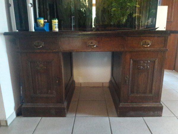 Schreibtisch, Eiche massiv, ca.100 Jahre alt in Neuhausen ...