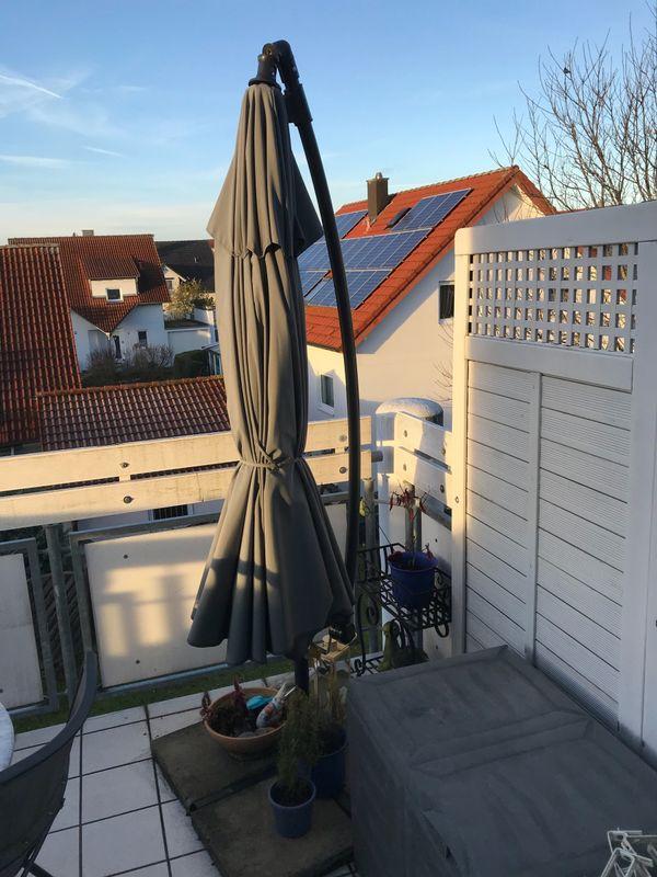 ampelschirm 3 meter neuwertig in altdorf sonstiges f r den garten balkon terrasse kaufen und. Black Bedroom Furniture Sets. Home Design Ideas