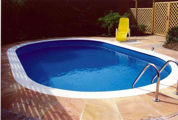 Pool oval 623x360x150cm stahlwandpool stahlwandbecken for Ovaler pool garten