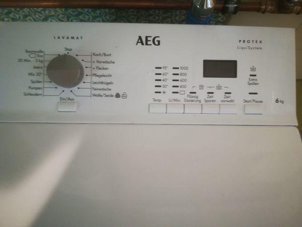 Schnäppchen aeg waschmaschine toplader neu mit garantie in