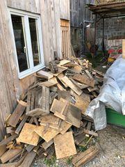 Verschenken Brennholz