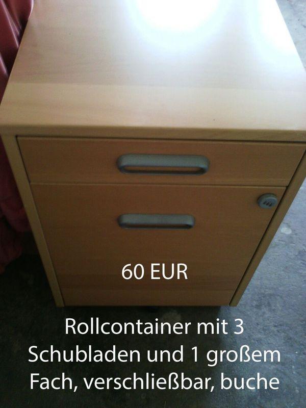 Schreibtisch Rollcontainer, ahornfarben in Schmalkalden ...