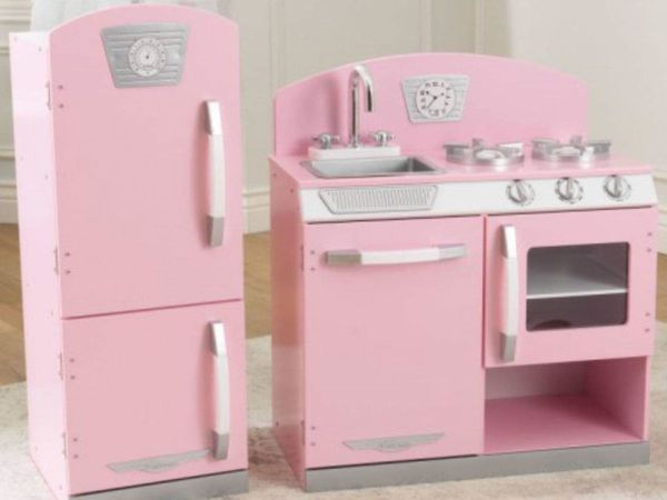 Retro Kühlschrank Kaufen : Spielküche retro mit kühlschrank spülmaschine und ofen in