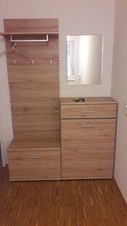 Garderobe 3-teilig mit kleinem Spiegel