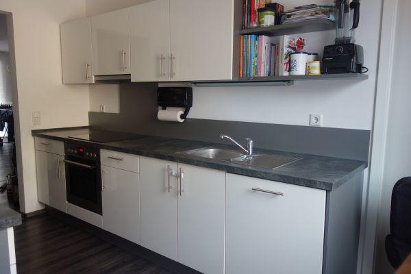 Nobilia Küche/Einbauküche weiß hochglanz mit Privileg/AEG-Geräten in ...