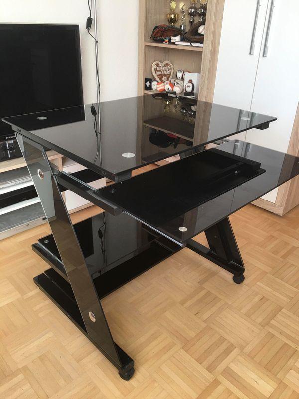 Computertisch glas schwarz  Computertisch (Glas/Schwarz) in Mannheim - Computermöbel kaufen ...