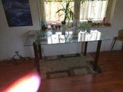 Glas Esstisch 150