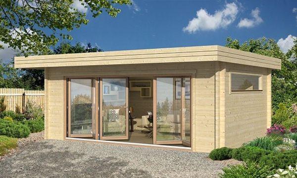 gartenhaus mit vollverglaster falt schiebet r antibes 70mm 18 8m2 garten in st. Black Bedroom Furniture Sets. Home Design Ideas