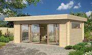 Gartenhaus mit vollverglaster Falt-Schiebetür - ANTIBES 70mm
