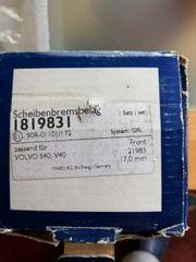 scheibenbremsbeläge für Volvo V40 S40