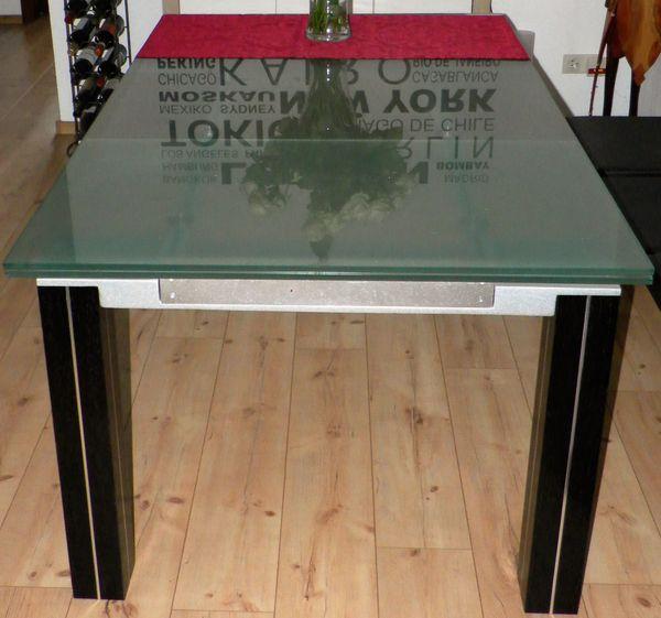 Design   Ausziehbarer ESSZIMMER Glas   Tisch