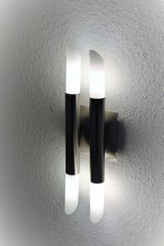 Moderne hübsche Halogen-Wandlampe Wandleuchte Glas