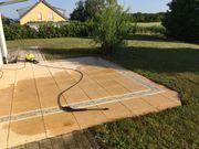 Verschenke über 20 qm Terrassenplatten