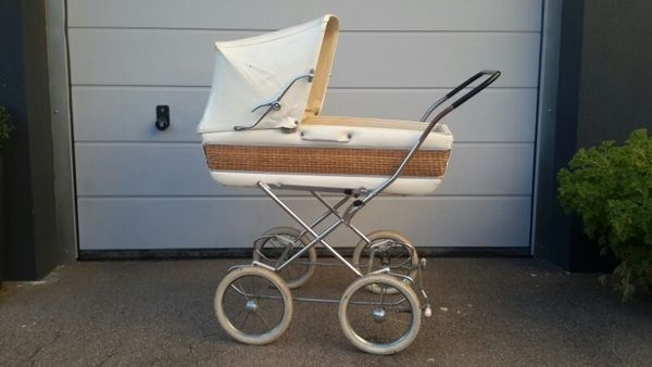 Kinderwagen rattan retro vintage iger in möglingen kaufen und