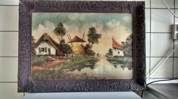 Gemälde Alt Holländische Bauernhof Maler