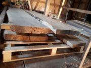 Eichenblock Holz Bohle abgelagert Tischplatte