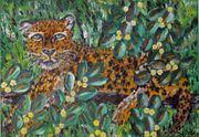 Leopardin Lola Originalgemälde Acryl auf