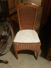 4 Stühle aus Ratan