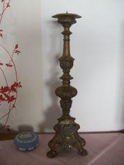 Altar-Kerzenständer alt Messing antik Barock