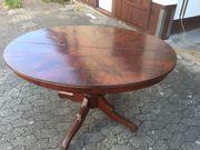 Antiker Echtholztisch Mahagoni Oval