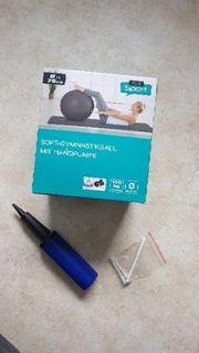 Soft- Gymnastikball mit Handpumpe