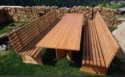 Gartengarnitur Tisch und