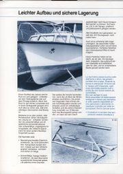 Motorboot-Lagerböcke