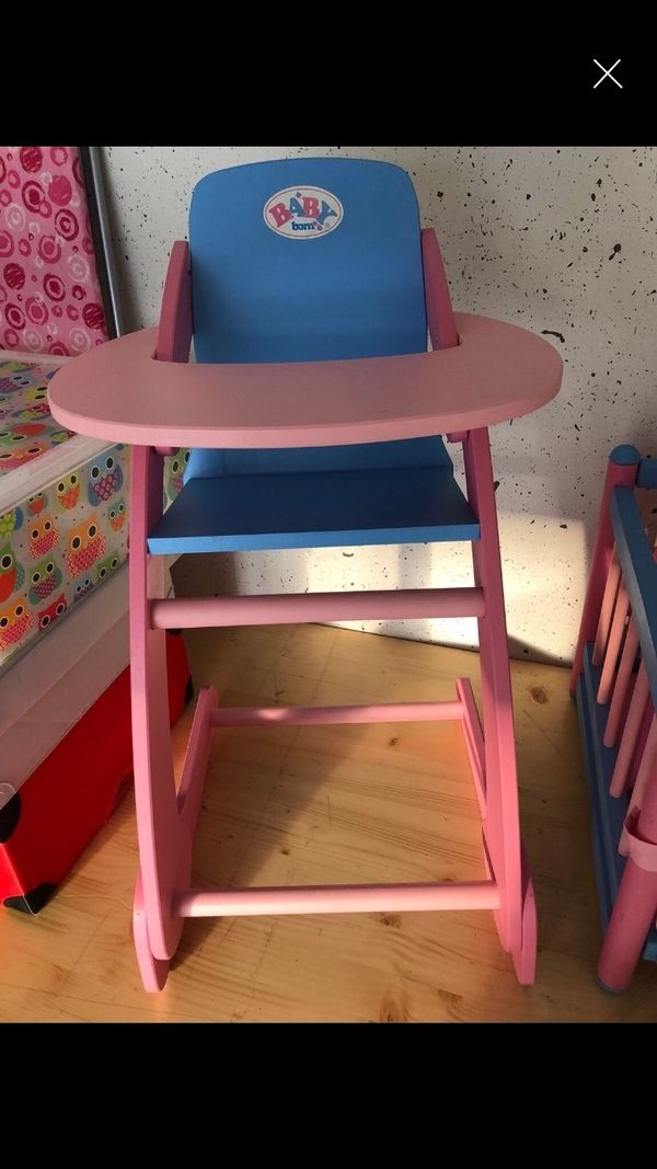 baby born hochstuhl gebraucht kaufen nur 4 st bis 65. Black Bedroom Furniture Sets. Home Design Ideas