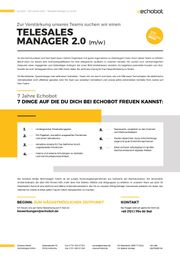 Telesales Manager 2.