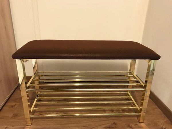 Schuhregal goldfarben mit sitzbank in mannheim regale kaufen